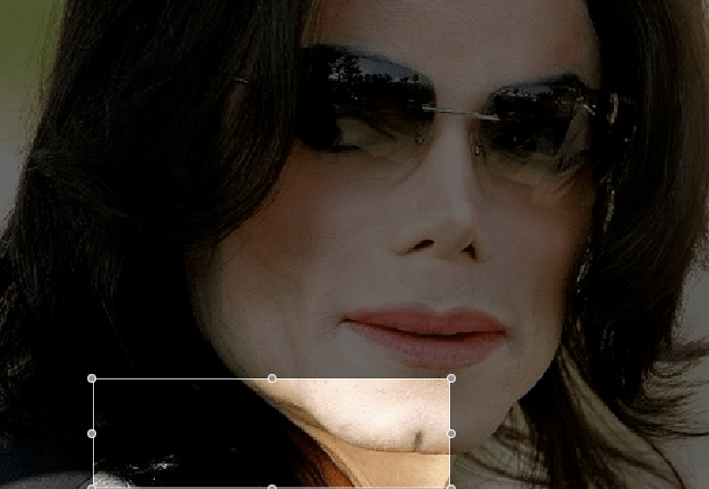 Michael Jackson's mask and neck