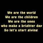sddefault 2 - Lyrics - Michael Jackson: We Are the World