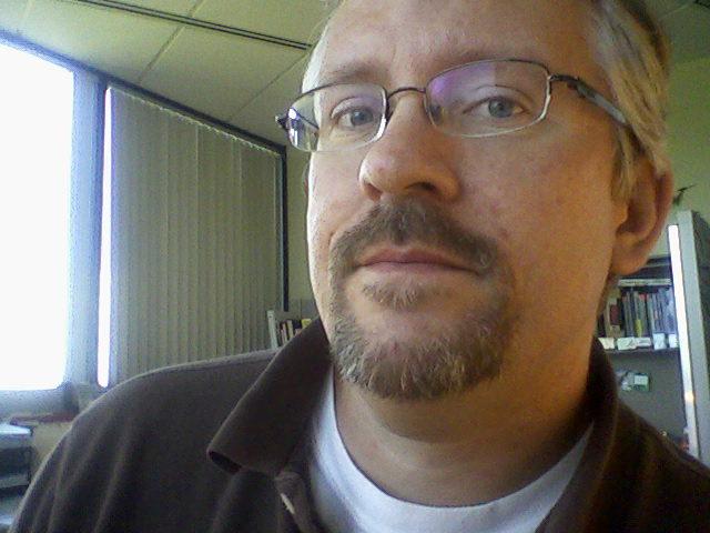 Me, in da office at da Day Job...