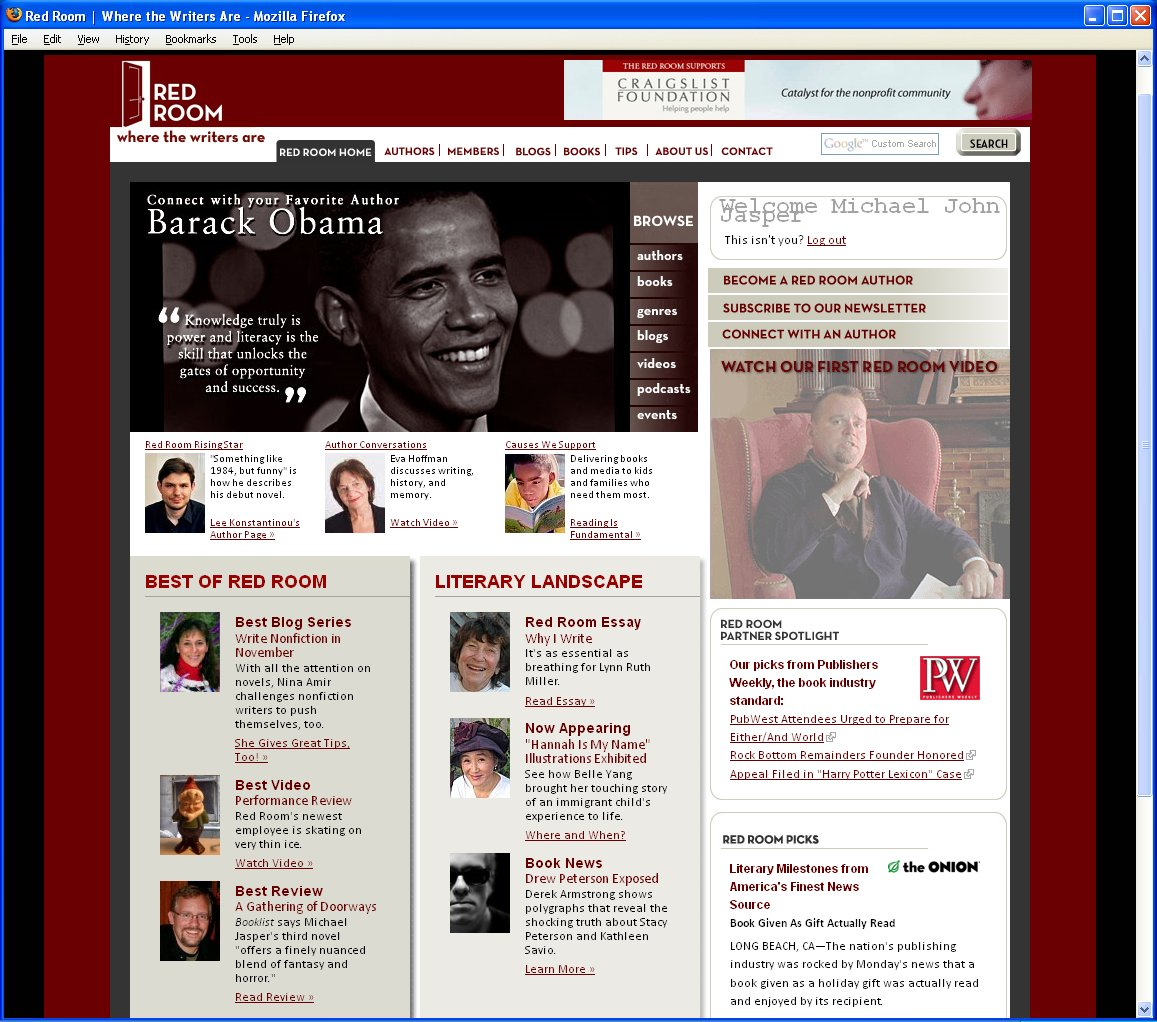 Red Room Home Page