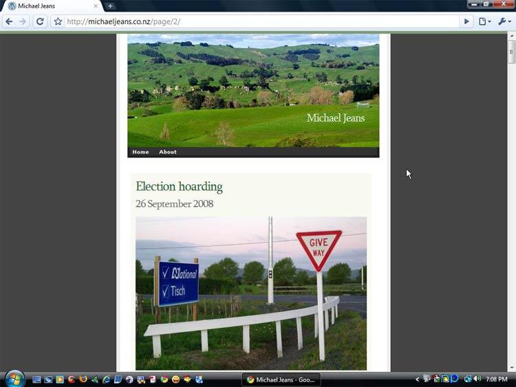 Original WordPress.com theme September - November 2008