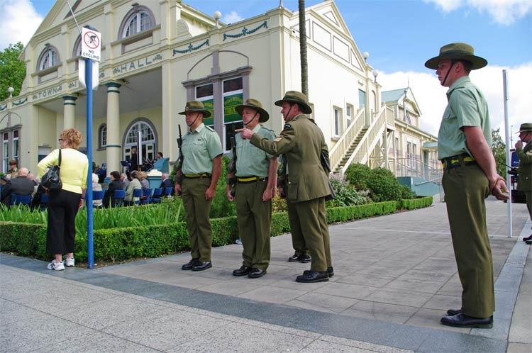 Guard of Honour, Lake Street, Cambridge, New Zealand