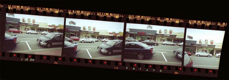 Disposable camera filmstrip