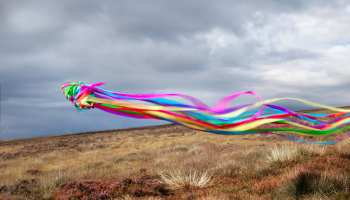 Streamers photographed on the Isle of Man, 2018
