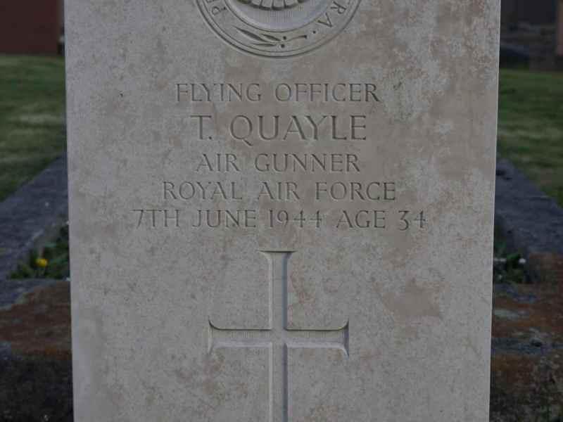 Gravestone of Thomas Quayle