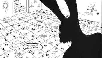 """""""Mistakes were Made"""", a cartoon by Matt Groening, from his series Life is Hell."""