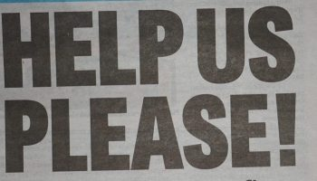 Help Us Please Headline from IOM Courier