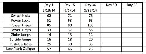 Insanity Fit Test 9-22-14