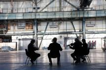 Modern String Quartett beim Einspielen, Ruhrtriennale 2010 © Michael Kneffel