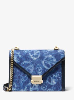 Whitney Large Peace Tie Dye Convertible Shoulder Bag Michael Kors