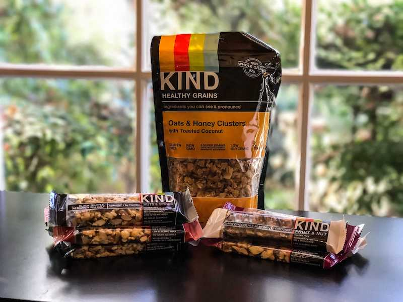 KIND snacks samples