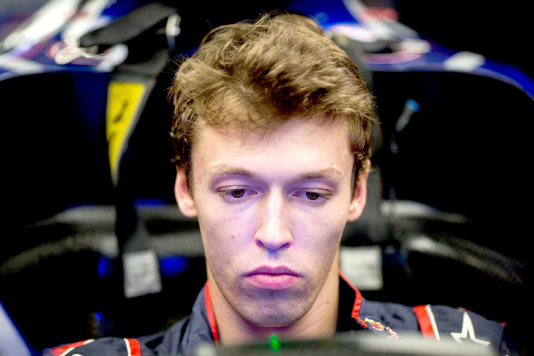 Daniil Kvyat sits in his car at the 2017 Hungarian Grand Prix.