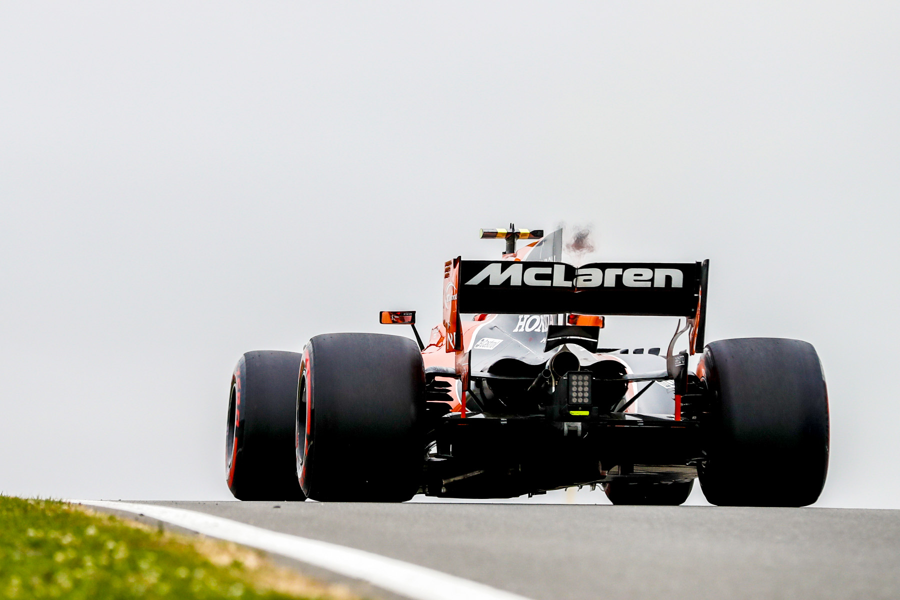 The McLaren MCL32 on the track.