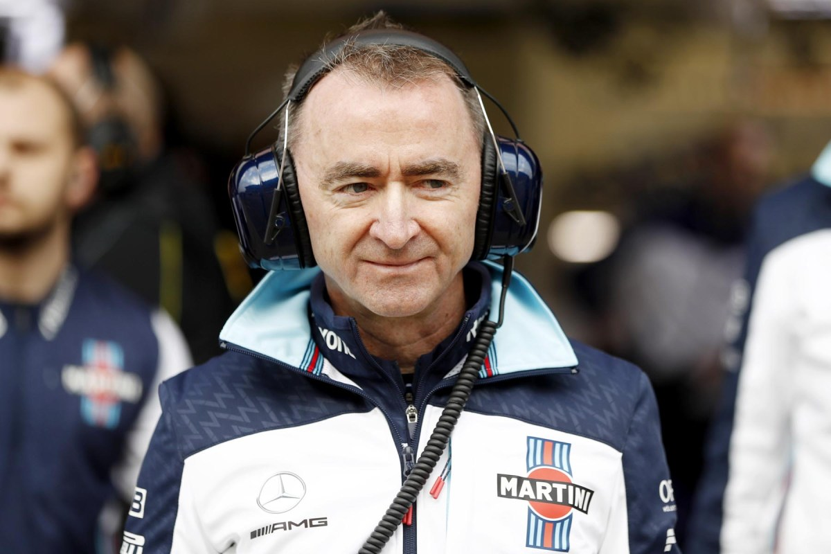 Paddy Lowe in the Williams garage.