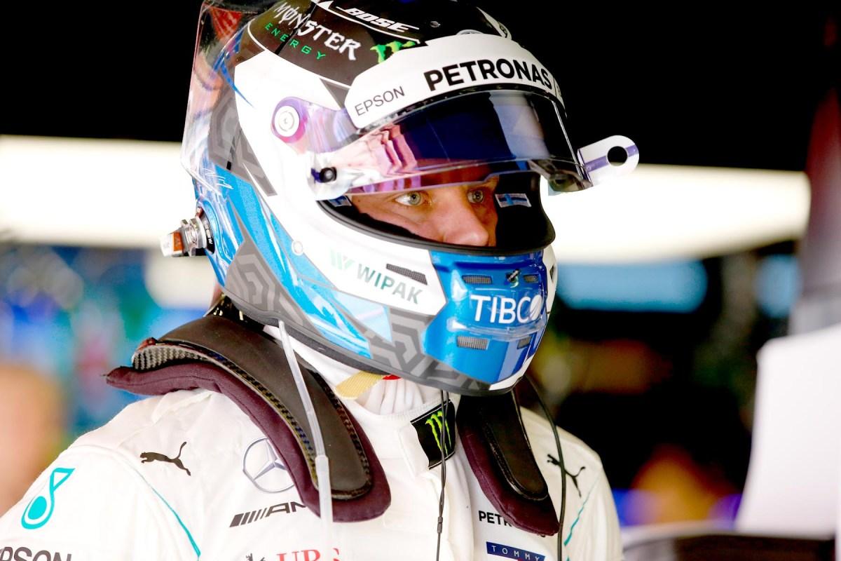 Valtteri Bottas in his garage at the 2018 Spanish Grand Prix.
