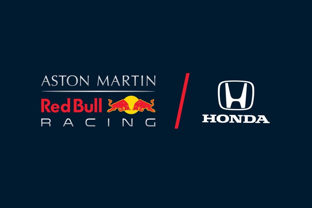 Red Bull Racing and Honda's logos.