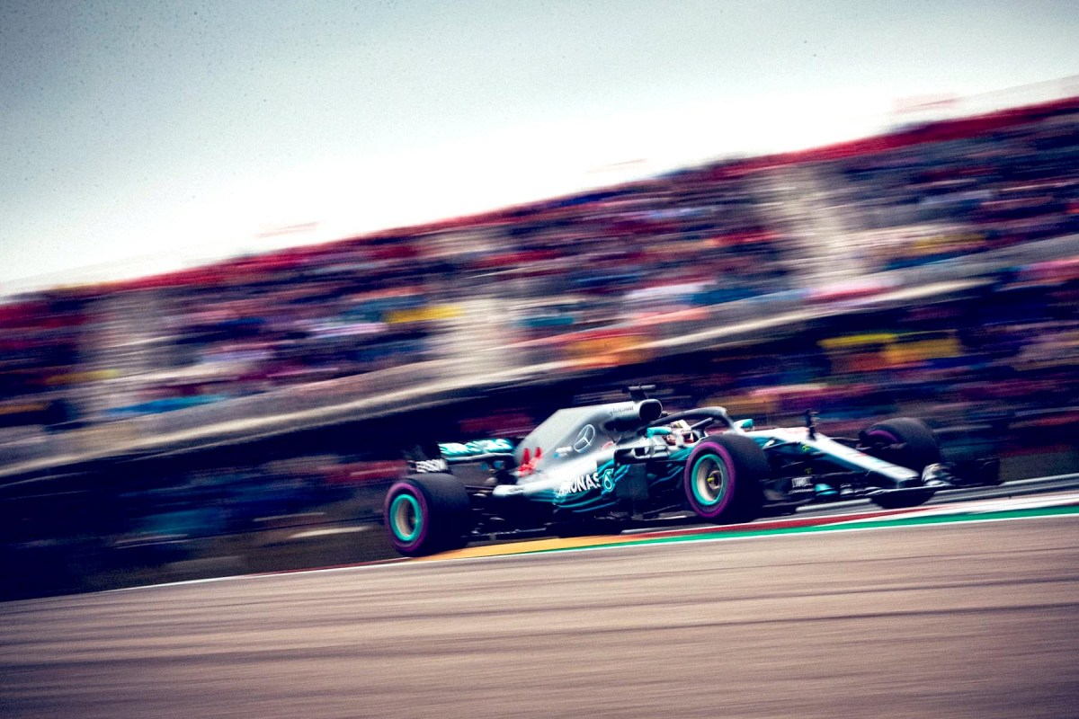 Lewis Hamilton on track during qualifying for the 2018 United States Grand Prix.