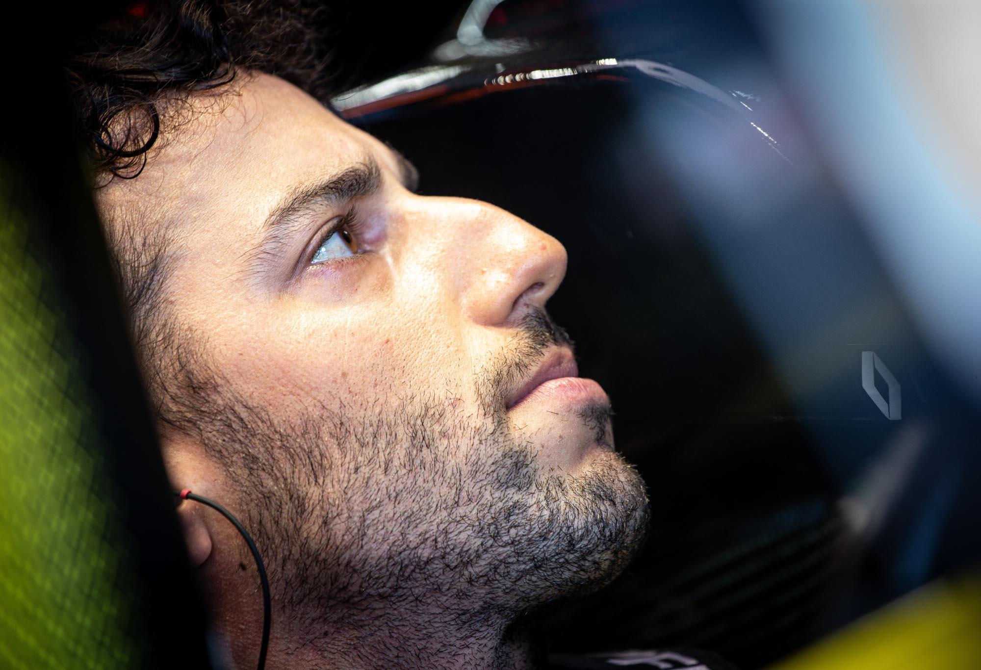 Daniel Ricciardo in his Renault