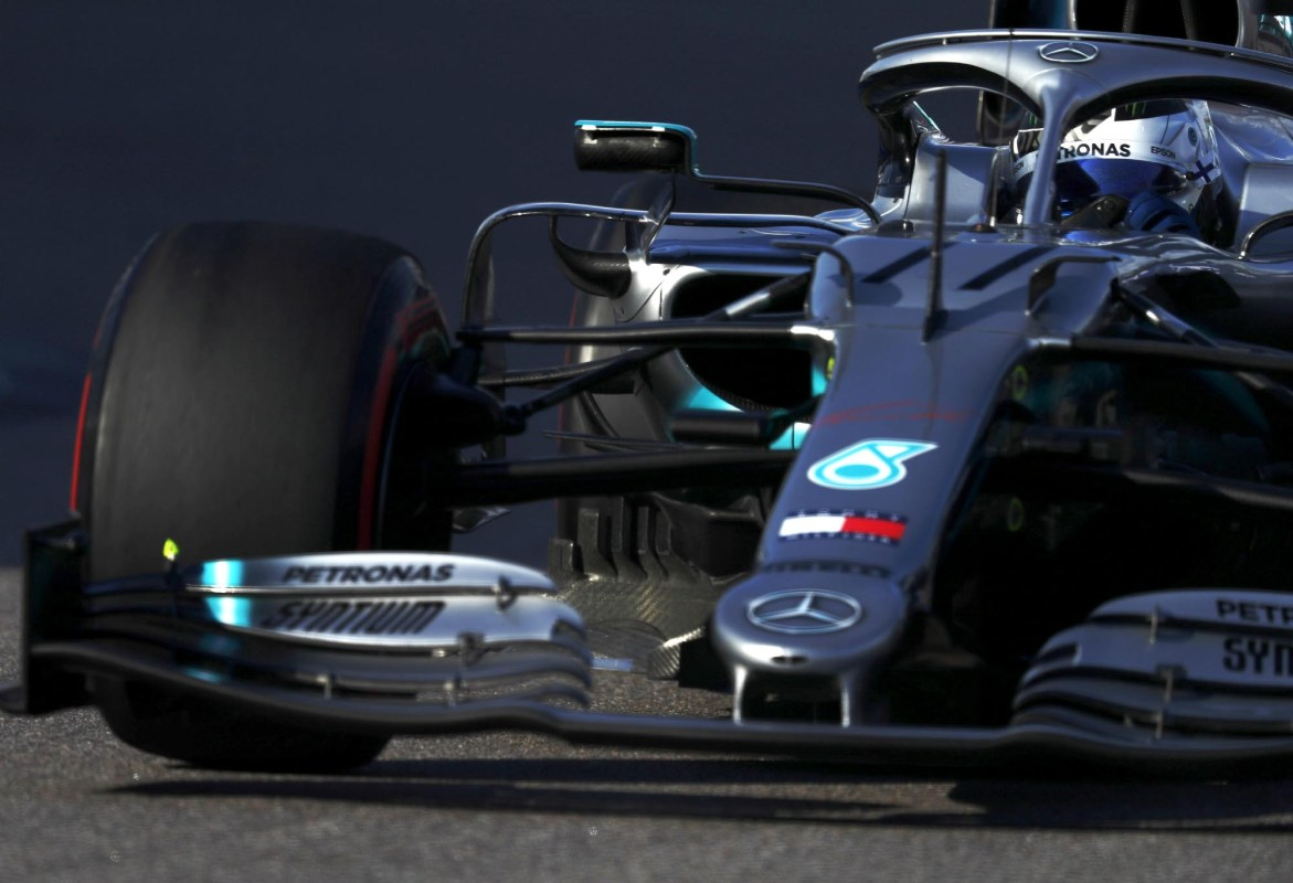 Valtteri Bottas on track in his Mercede