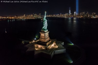 Statue of Liberty and the skyline
