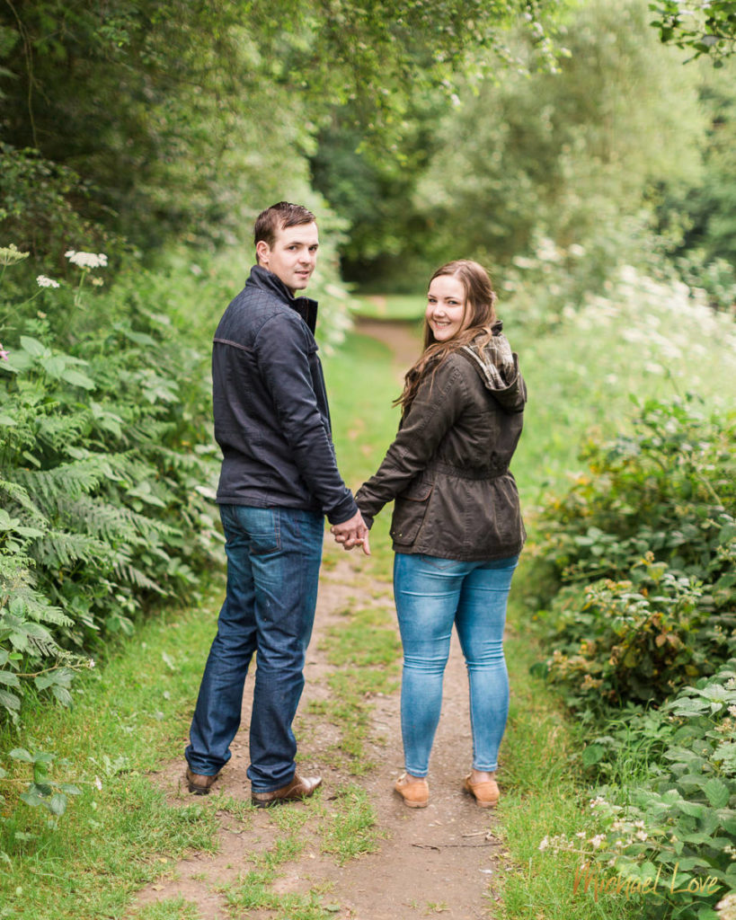 Engagement photos of Cali & Thomas in the Roe Valley countryside near Dungiven