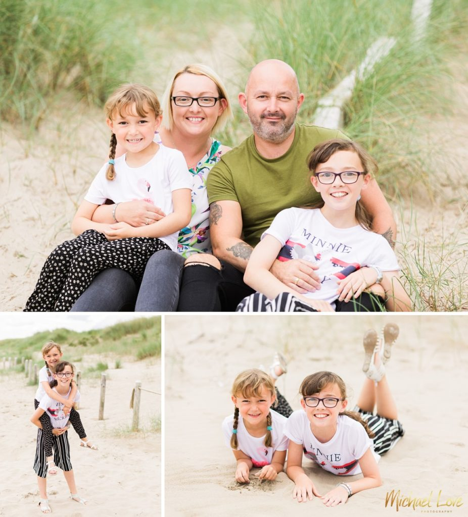 Family photos on the beach at Derry