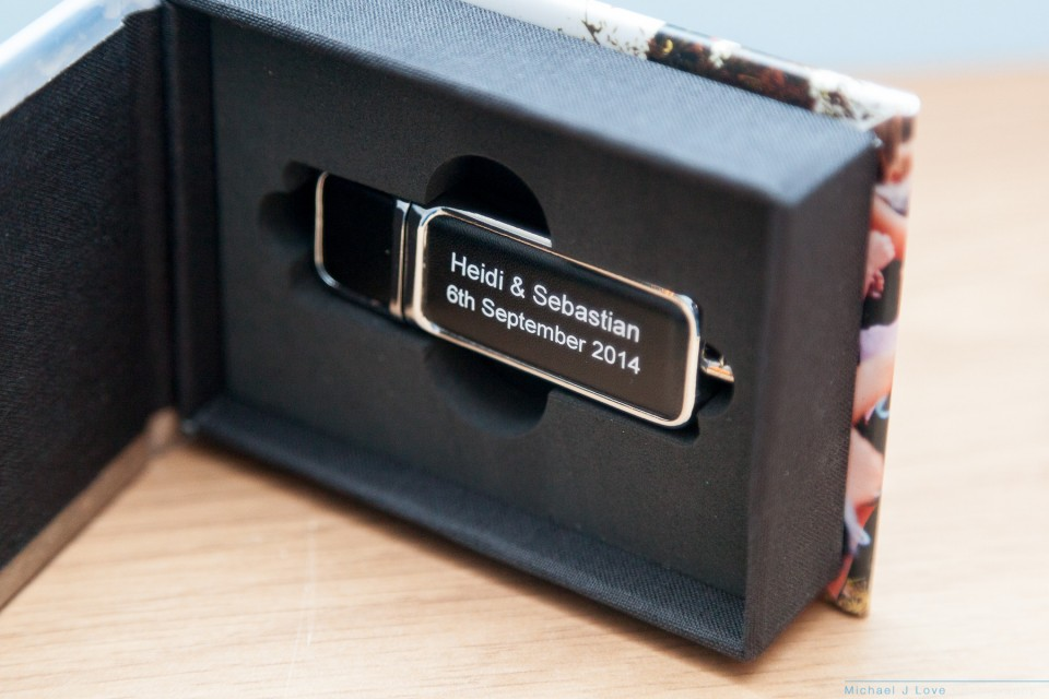 Wedding digital files available on USB