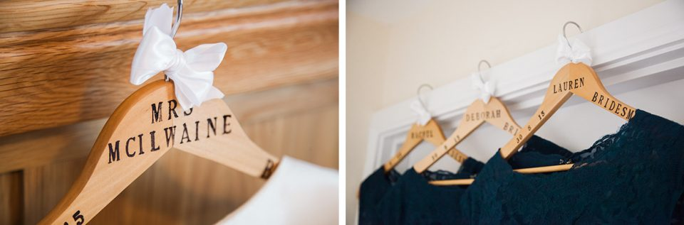 Wedding Morning Tips - Personalised Hangers