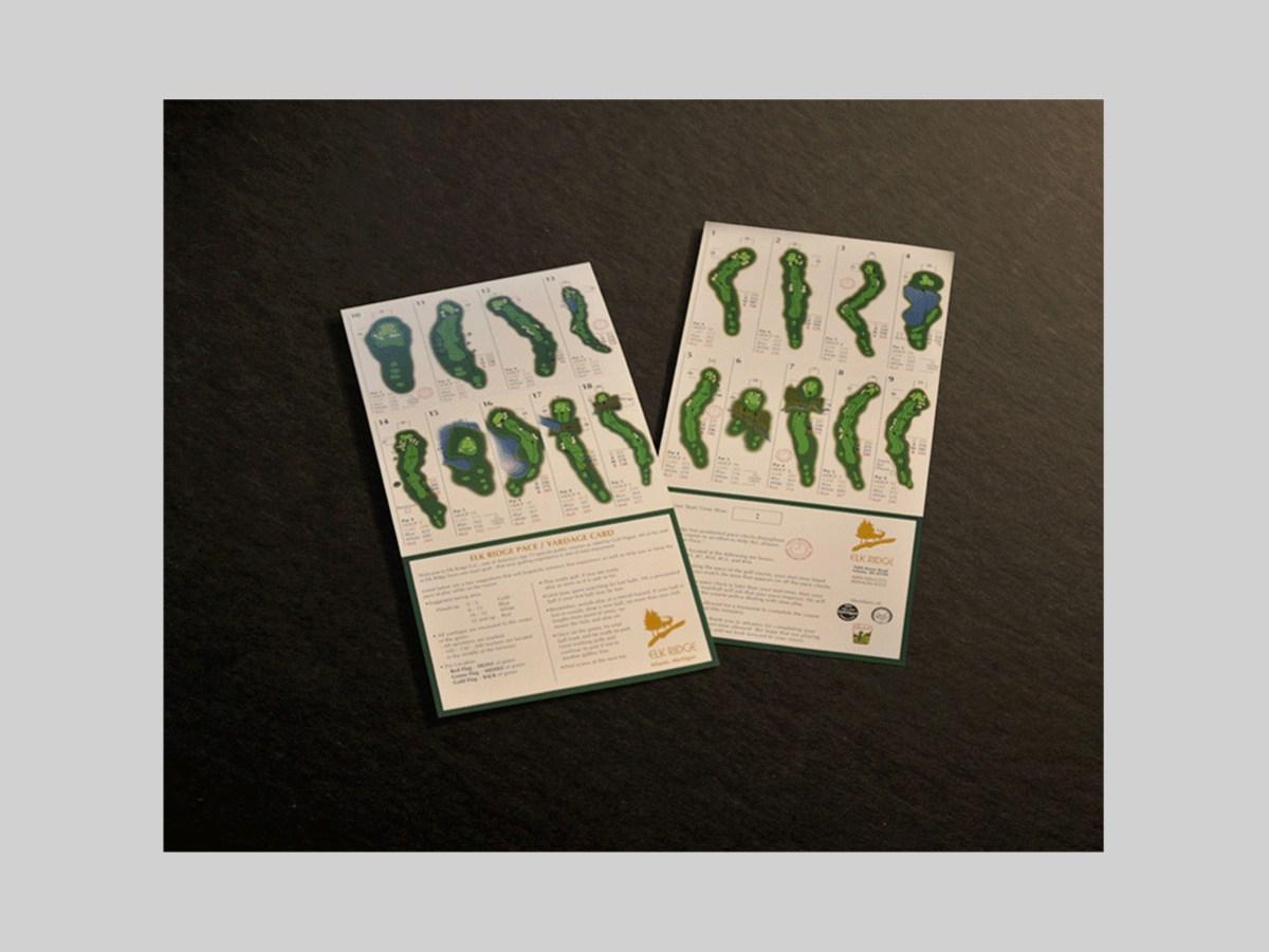 Elk Ridge Yardage Card