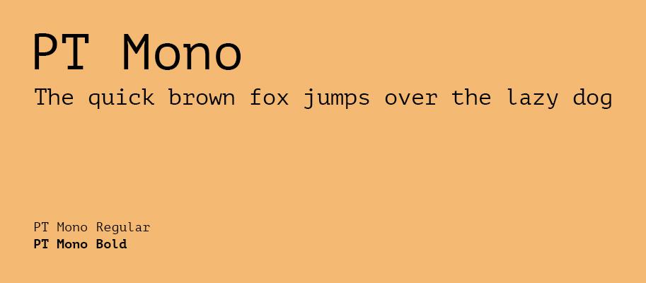 PT Mono - Best Google Fonts - Michael Lutjen