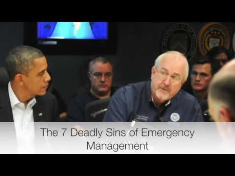 Craig Fugate the 7 deadly sins of emergency management