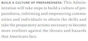 culture of preparedness