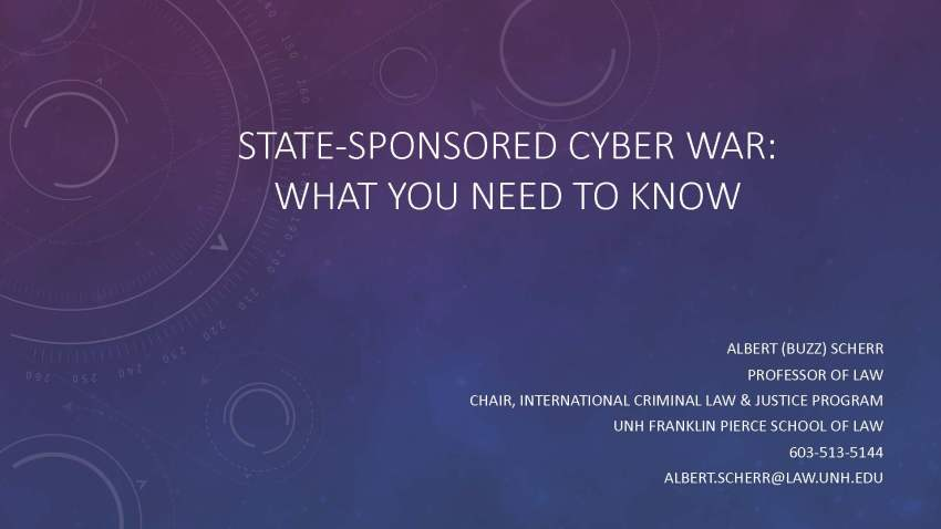 State-Sponsored Cyber War: What You Need to Know