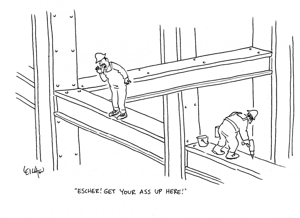 Anatomy of a Cartoon: Robert Leighton on His Escher