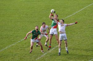 Barry Moran in action v Tyrone