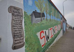 Mural at Chapel Street Swinford.