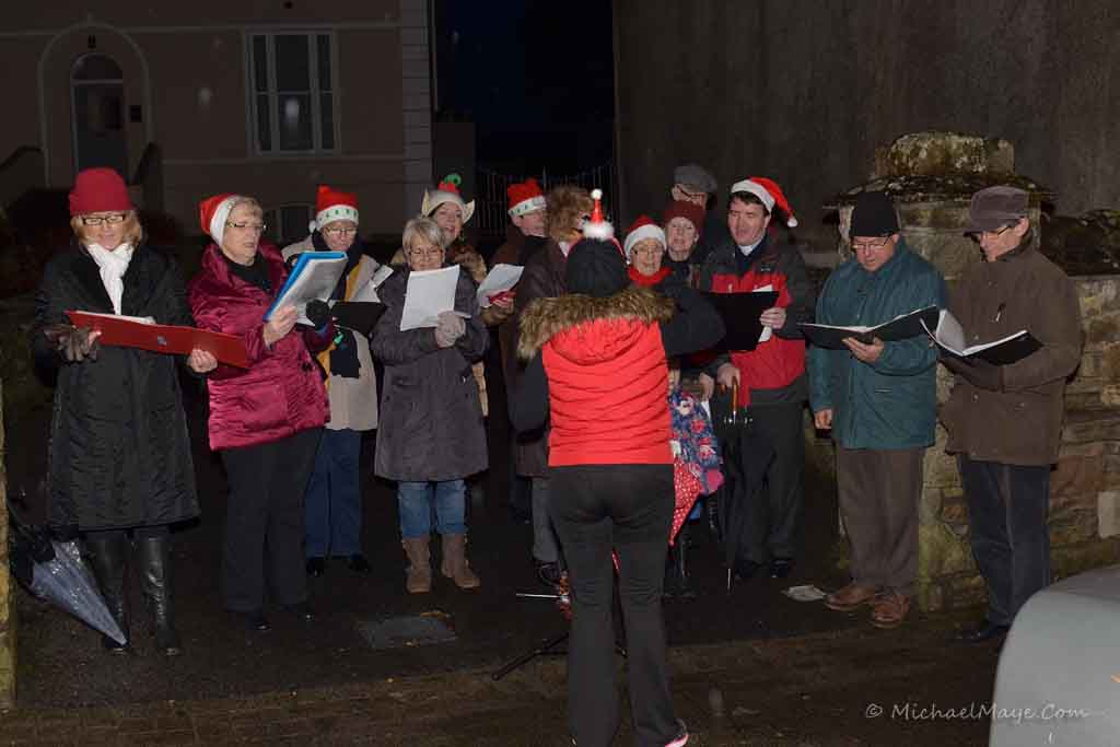 Swinford Church Choir singing Carols.