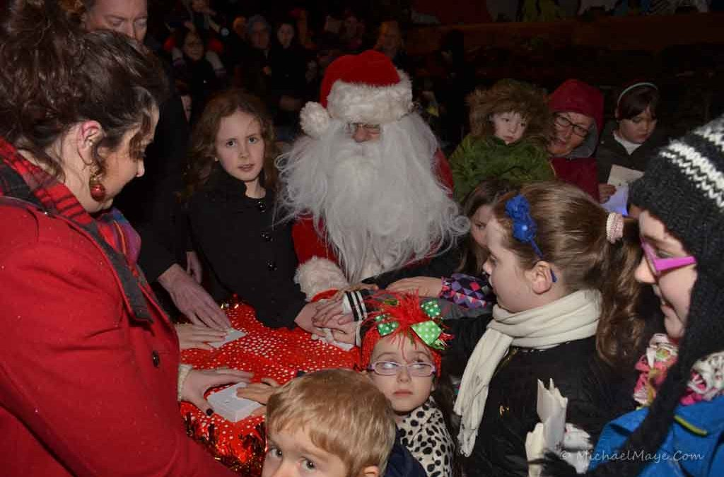 Swinford Christmas lights switch on 2014