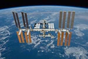 International Space Station (ISS) in orbit.