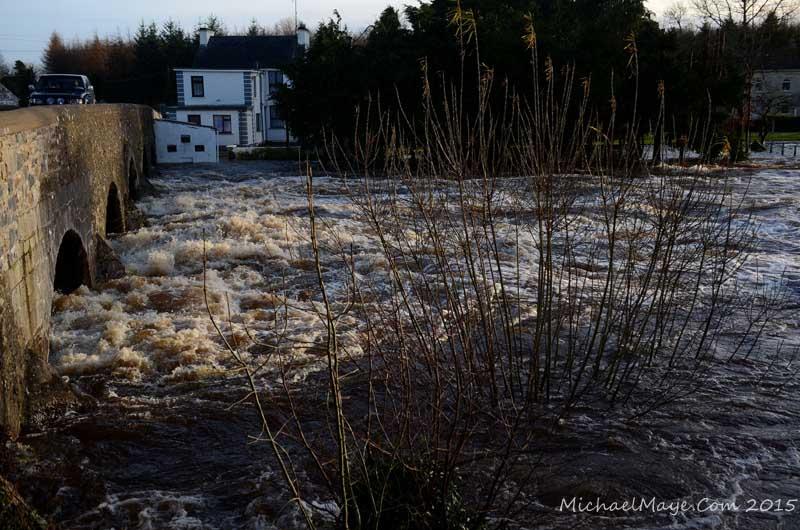 storm desmond river moy flooding