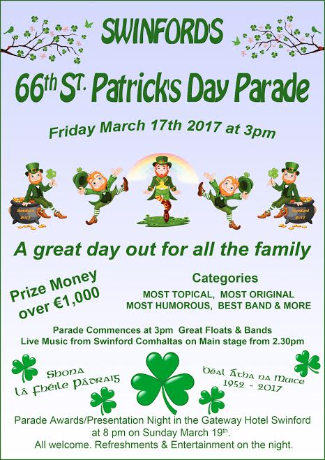 66th St Patrick's Day Parade Swinford 2017
