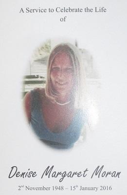 IMG_9721ab0400h Denise Moran furneral programme p01