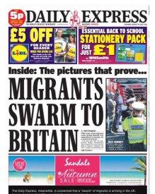 express - migrants swarm to Britain