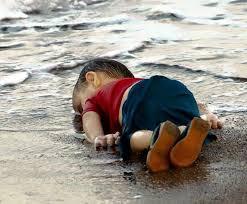 Syrian child on beach