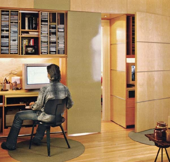 an office that can be tucked away