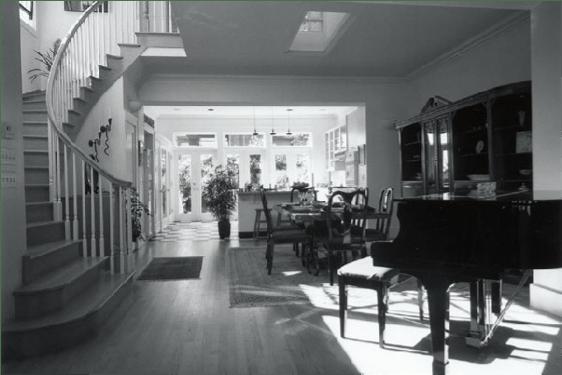 Elegant stair with formal room