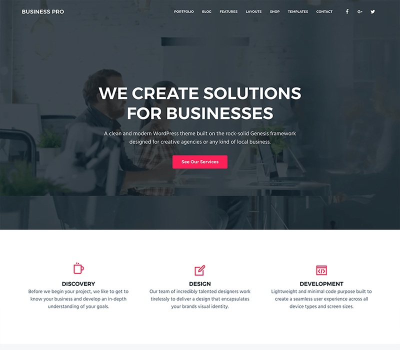 Business Pro Child Theme Studiopress Web Design Web Development Digital Marketing
