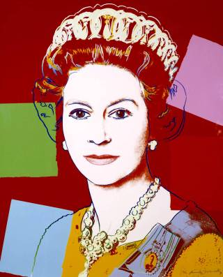 Queen Elizabeth II of the United Kingdom 1985 Andy Warhol 1928-1987 Lent by the American Fund for the Tate Gallery, courtesy of Eileen and Peter Norton 2000 http://www.tate.org.uk/art/work/L02270