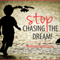 Stop Chasing The Dream Live It