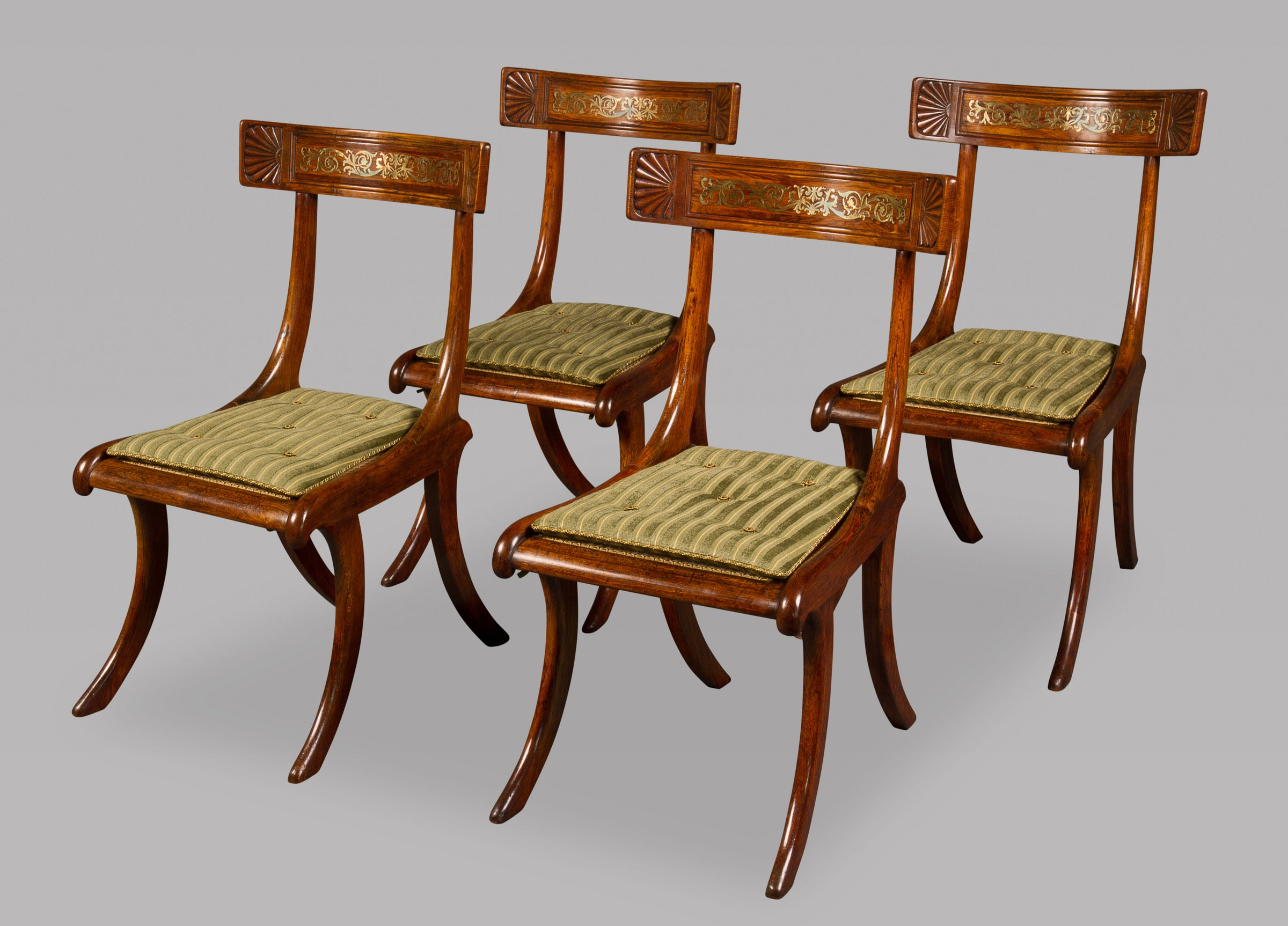 Klismos Chair A Fine Set Of Four Regency Rosewood And Faux Rosewood